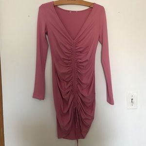 Pink Body Con Going Out Dress